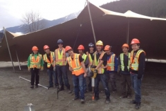 Stretch tent training course. Pemberton.BC